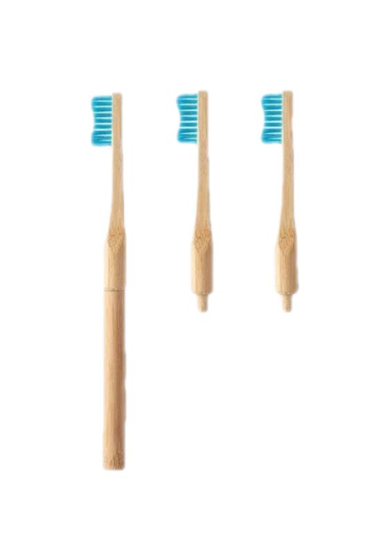 cserélhető fejes bambusz fogkefe