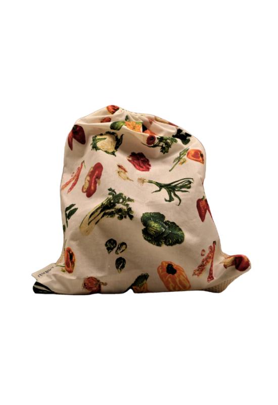 hálós bevásárló zsák közepes zöldkuckó