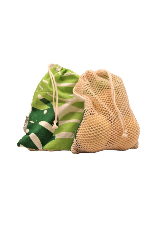 hálós bevásárló zsák mini zöldkuckó